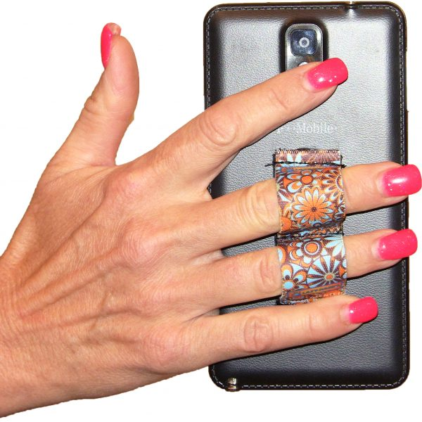 LAZY-HANDS Grips 2-Loop Phone Grip - Floral