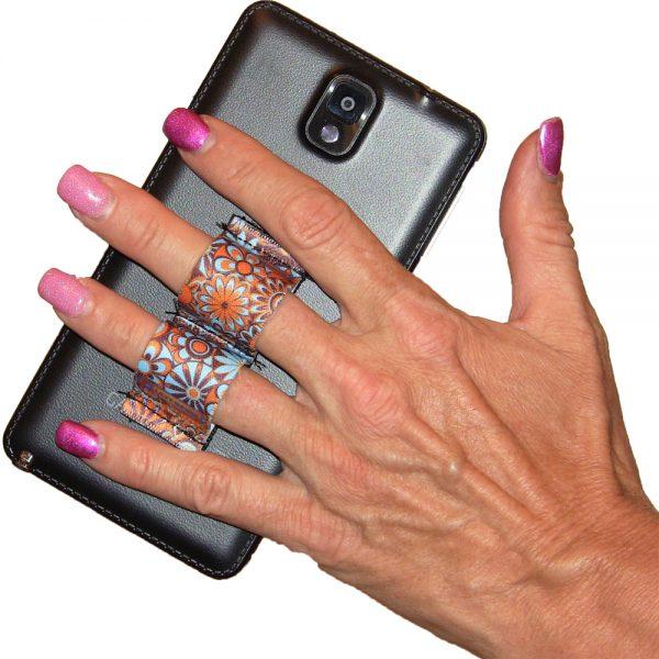LAZY-HANDS Grips 2-Loop Phone Grip - Floral