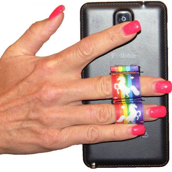 LAZY-HANDS Grips 2-Loop Phone Grip - Rainbows & Unicorns 1 PG2